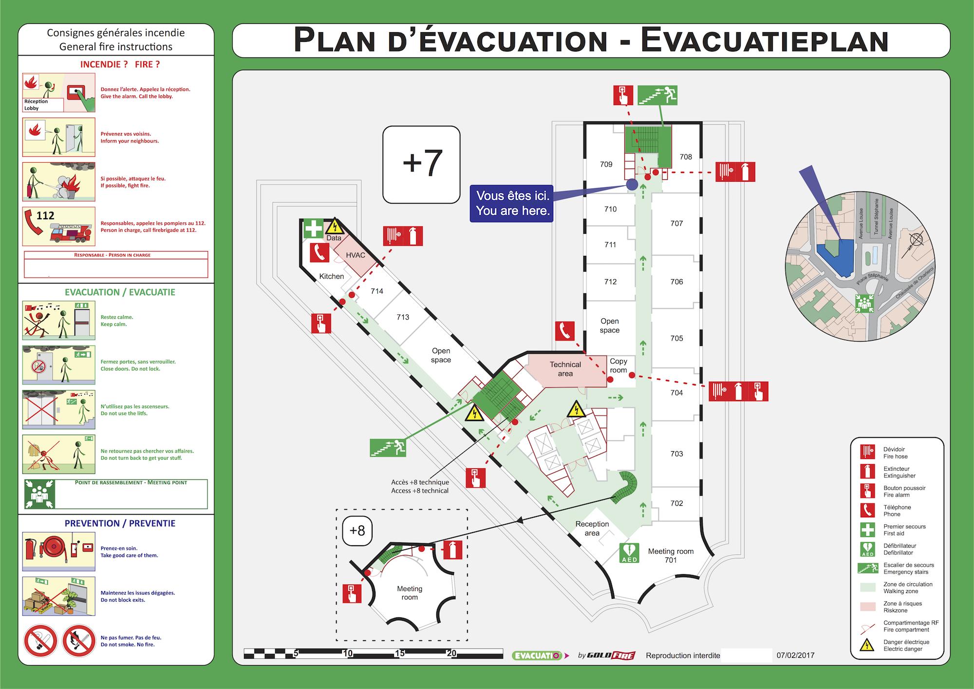 evacuatio exemples de plans d 39 vacuation. Black Bedroom Furniture Sets. Home Design Ideas