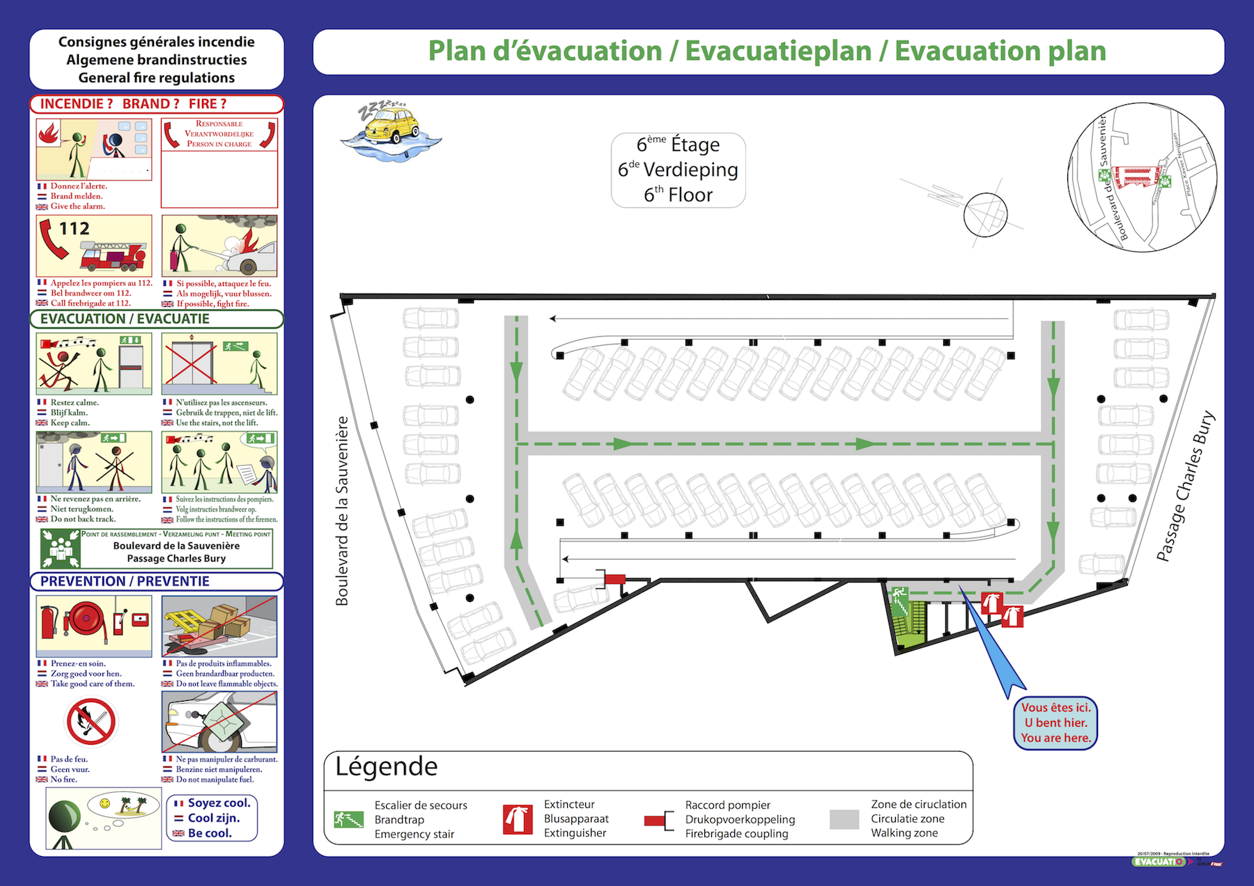 plan evacuation parking