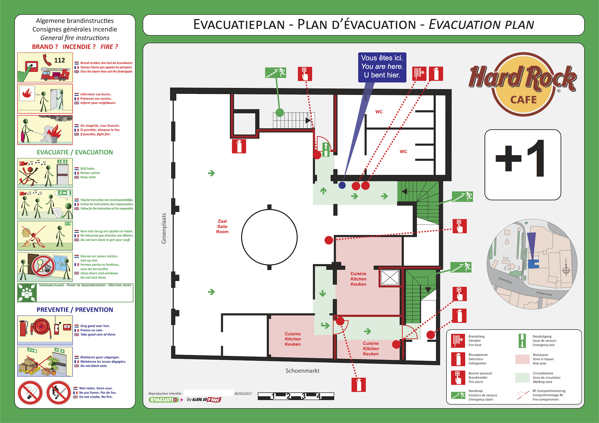plan evacuation restaurant