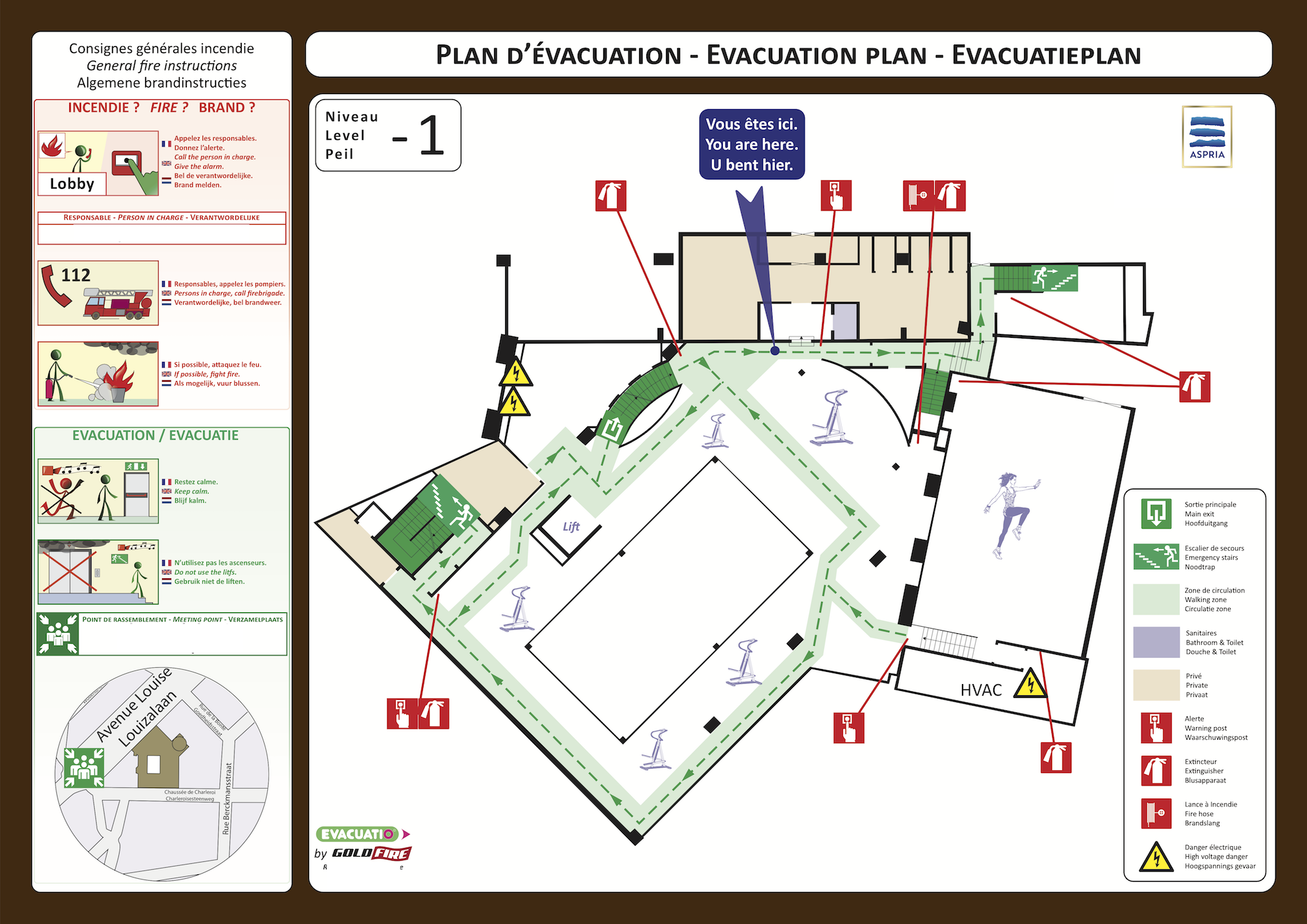 evacuatio evacuation plan. Black Bedroom Furniture Sets. Home Design Ideas
