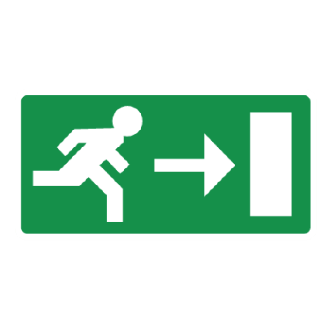evacuation pictogram